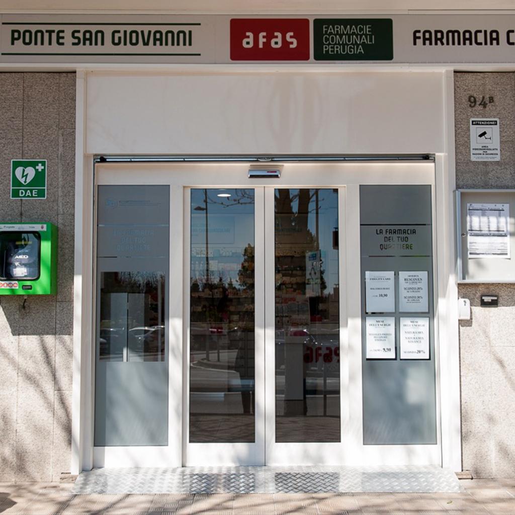 Farmacia Comunale AFAS n.3 Ponte San Giovanni - Ingresso